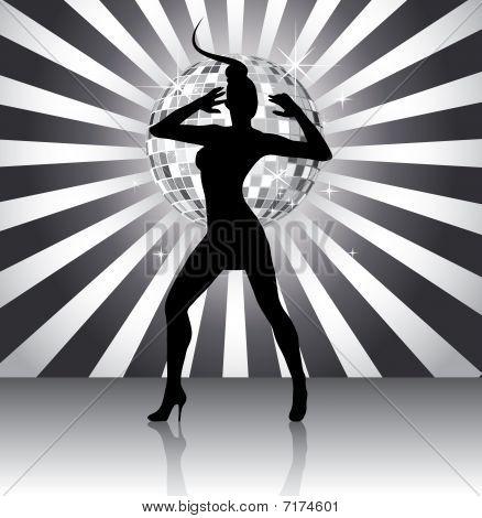 Disco queen silhouette