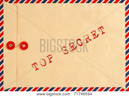 Vintage Airmail Envelope. Top Secret