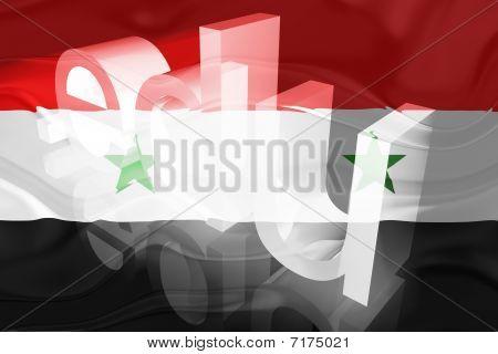 Bandeira da Síria ondulado educação