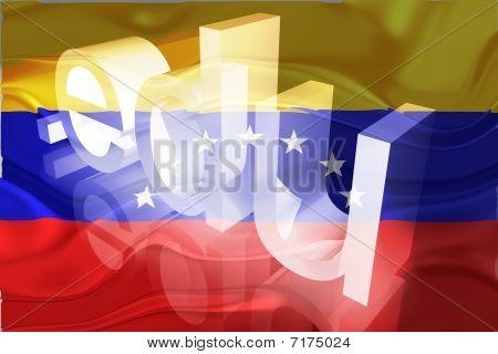 Bandeira da Venezuela ondulado educação