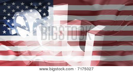 Bandeira da educação ondulado de Estados Unidos da América