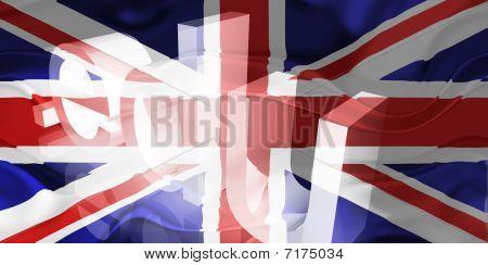 Bandeira do Reino Unido educação ondulado