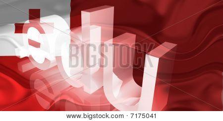 Bandeira de Tonga ondulado educação