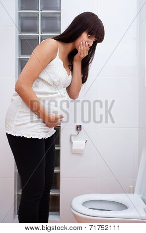 Pregnant Woman Feeling Sick