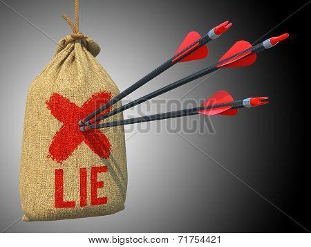 Lie - Arrows Hit in Red Mark Target.
