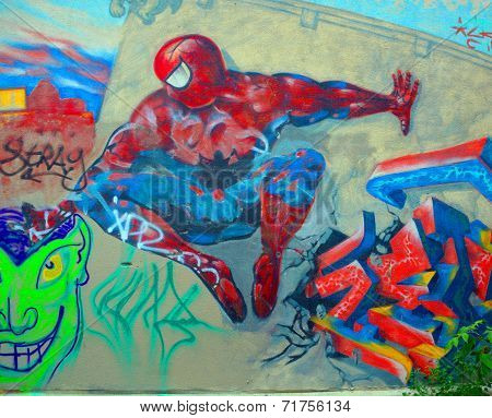 Street art Montreal Spiderman