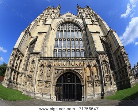 Gothic design of Canterbury Cathedral