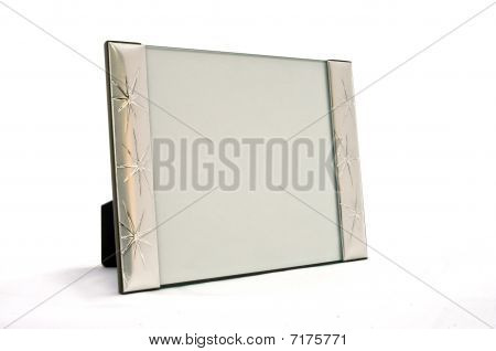 empty frame in silver