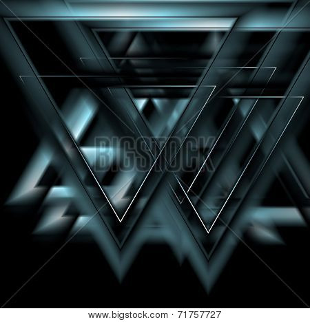 Glow vector tech background. Difficult to edit, only blue on black