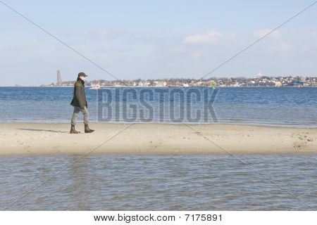 walk on a sandbank