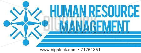 Human Resource Management Human Circular Blue