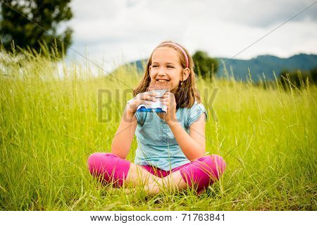 Girl enjoying chocolate