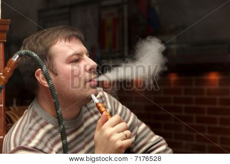 Man At Shisha House