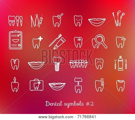 Set of dentistry symbols