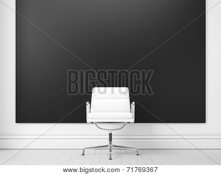 Chalkboard Mockup With Chair