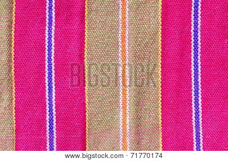 Colorful Loincloth Fabric Background, Texture