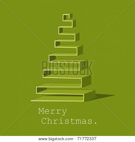 Modern abstract Christmas tree design vector background