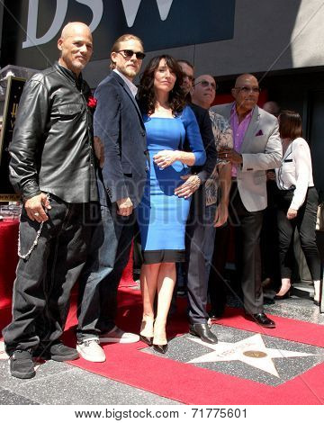 LOS ANGELES - SEP 9:  Katey Sagal, Sons of Anarchy Cast at the Katey Sagal Hollywood Walk of Fame Star Ceremony at Hollywood Blvd. on September 9, 2014 in Los Angeles, CA