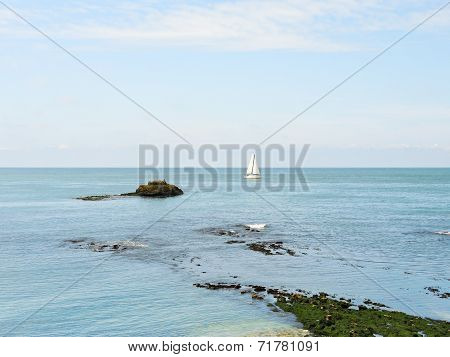 Coastline Of Cote D'albatre Of English Channel
