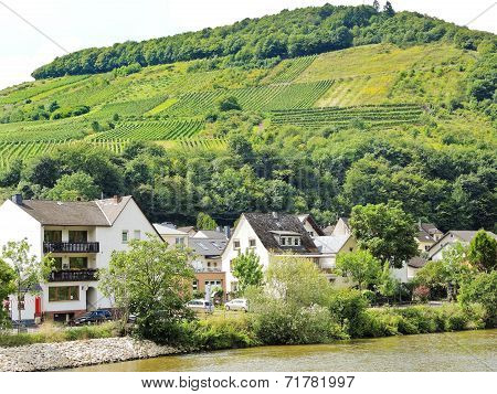Houses In Ellenz Poltersdorf Village On Moselle