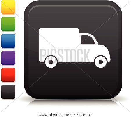 Lieferung LKW-Symbol auf Quadrat Internet-Taste