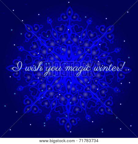 Magic Winter Postcard