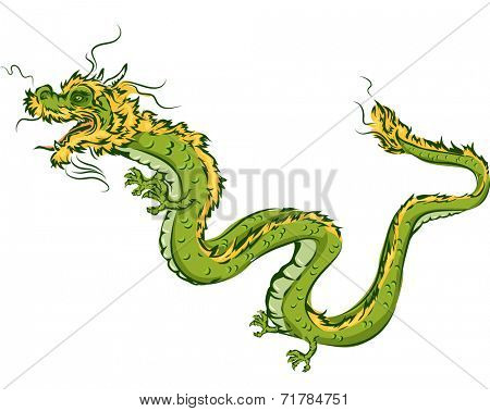 Illustration Featuring a Dragon