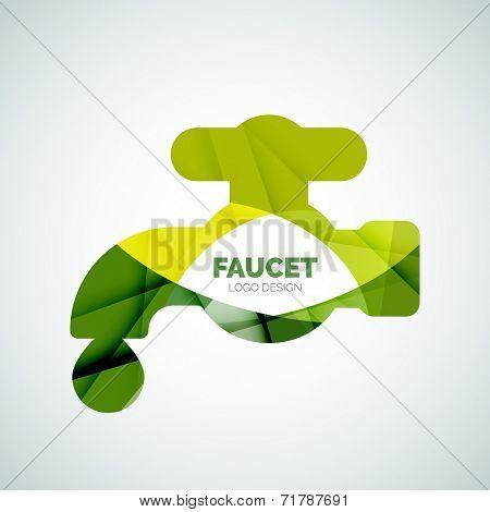 Faucet logo, branding logotype design