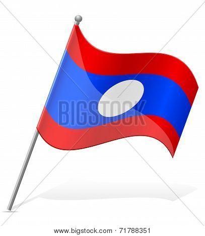 Flag Of Laos Vector Illustration