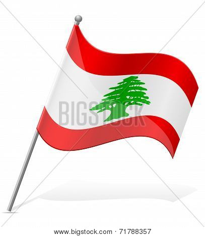 Flag Of Lebanon Vector Illustration