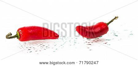 wet red hot pepper
