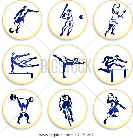 Sport Buttons Sammlungen