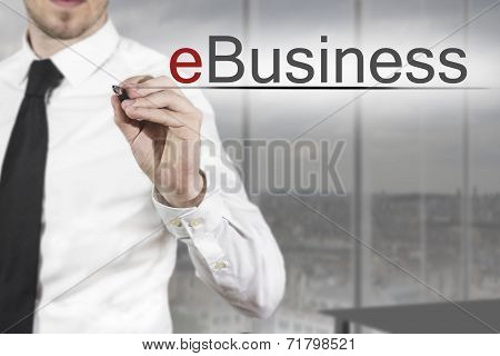 Businessman Writing Ebusiness