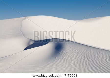 Sand Dune At White Sands National Monument, New Mexico