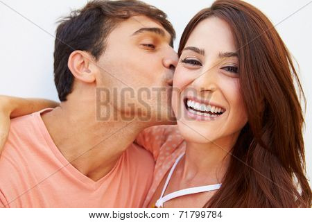 Portrait Of Happy Young Hispanic Couple