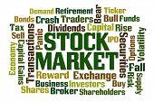 pic of stock market crash  - Stock Market word cloud on white background - JPG
