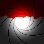 stock photo of gun shot wound  - Vector illustration of a gun barrel with blood - JPG