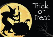 stock photo of witches  - Trick or Treat Halloween - JPG