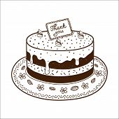 pic of nameplates  - Tasty cake pie with thanksgiving nameplate - JPG