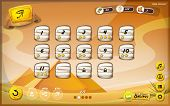 image of pharaohs  - Illustration of a funny egyptian desert graphic game user interface background in cartoon style with buttons status bar for wide screen tablet - JPG