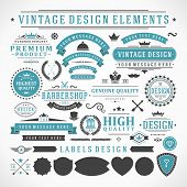 picture of shield  - Vintage vector design elements - JPG