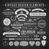 stock photo of flourish  - Vintage vector design elements - JPG