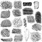 stock photo of scrape  - vector set of ink lines - JPG