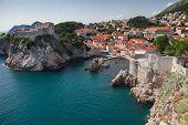 pic of gibraltar  - View on Lovrijenac fort - JPG