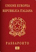 foto of passport cover  - vector Italian passport cover  - JPG