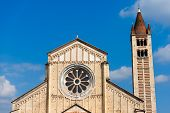 pic of masterpiece  - Facade and bell tower of the Basilica of San Zeno  - JPG