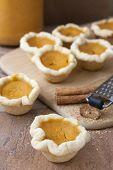 picture of pumpkin pie  - Mini or bite - JPG