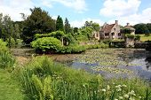 picture of chateau  - rural landscape in southern England in summer - JPG