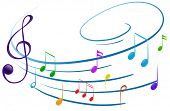 foto of g clef  - Illustration of the musical notes on a white background - JPG