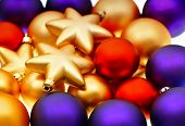picture of lilas  - christmas balls decoration - JPG